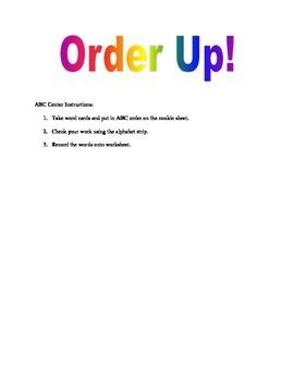 Polar Animals Literacy Center: Order Up