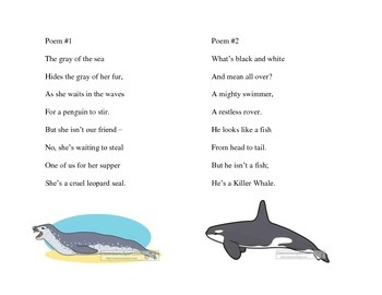 Polar Animals Literacy Center: Sentence Scramble