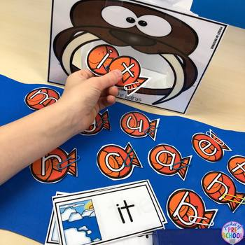 Polar Animals Math and Literacy Centers for Preschool, Pre-K, and Kinder