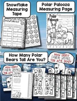 Polar Animals Measuring Palooza --- Polar Animals Measurement Math Centers