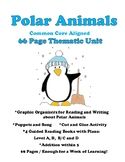 Polar Animals PACK: Printable Books, Graphic Organizers, Math, MORE 66 pgs