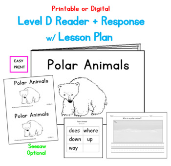 Polar Animals Printable Book: Guided Reading Level D