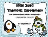 Polar Animals Themed FREEBIE for Interactive Literacy Notebook (Main Idea)