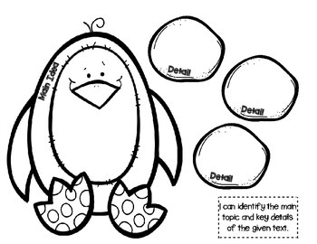 Polar Animals Themed FREEBIE for Interactive Literacy Notebook (Main Idea)