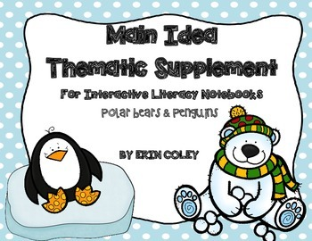 Polar Animals Themed FREEBIE for Interactive Literacy Note