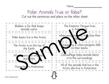 Polar Animals True or False?