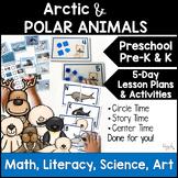 All About Polar Animals 5-Day Lesson Plans for Preschool PreK, K Homeschool