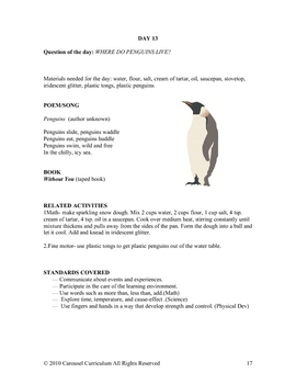 Polar Animals Unit for Preschool to K