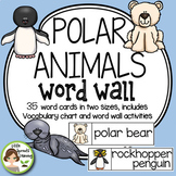 Polar Animals Word Wall (includes Arctic and Antarctic Animals)