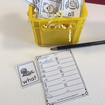 Polar Animals Write the Room Sight Words