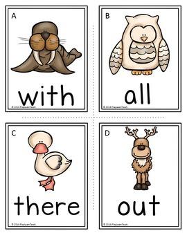 Polar Animals Write the Room Sight Words
