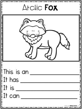 Polar Animals Writing Pages