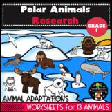 Polar Animals and Habitat Research First Grade
