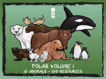 Polar / Arctic / Antarctica Volume 1 -- 10 Wild Animals -- 100 K-2 Resources