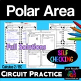 Polar Area Circuit Style Practice  AP Calculus BC Calculus 2