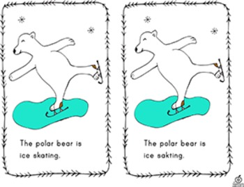 Polar Bear Emergent Reader: Action Words