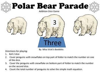 Polar Bear Addition Dice Game