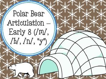 """Polar Bear Articulation - Early 8 (/m/, /b/, /n/, """"y"""")"""