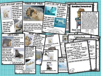 Polar Bear Chit Chat Messages Close Reading Passages NO PREP