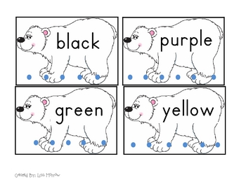 Polar Bear Clip-A-Color Word