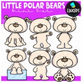 Little Polar Bear Clip Art Mini Bundle {Educlips Clipart}