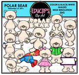 Polar Bear Clip Art Bundle {Educlips Clipart}