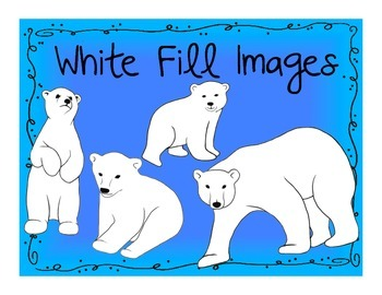 Polar Bear Clip Art- Digital Art Pack!