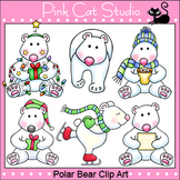 Polar Bear Clip Art  - Personal or Commercial Use