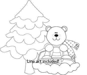 Polar Bear Clip Art - Snow Much Fun!