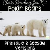Polar Bears for Kindergarten and First Grade Close Reading