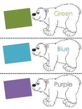 Polar Bear Color Practice