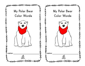 Polar Bear Color Words: Emergent Reader