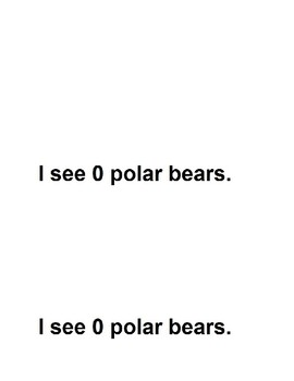 Polar Bear Counting Emergent Reader Book for Preschool and Kindergarten