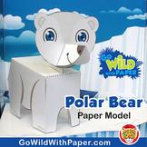 Polar Bear Craft Activity | 3D Paper Model