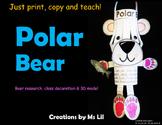 Polar Bear Craft  ::  Polar Bear Activity  ::  Polar Bear Research Project