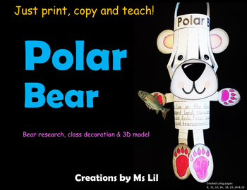 Polar Bear Craft  ::  Polar Bear Activity  ::  Polar Bear Research Project