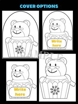 Polar Bear Cupcake - Jackie's Crafts, Winter Activities, Christmas Writing