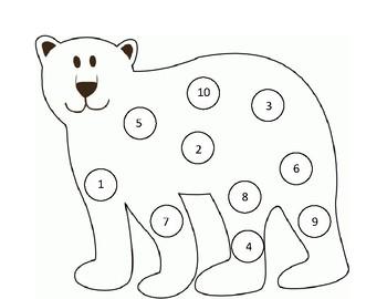 Polar Bear Do-A-Dot Number Match