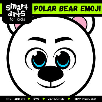 Polar Bear Emoji Clip Art