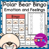 Polar Bear Emotion and Feelings Bingo Game
