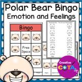 Polar Bear Emotion and Feelings Bingo Game