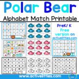 Polar Bear Fishing Alphabet Match Printable - Active Littles