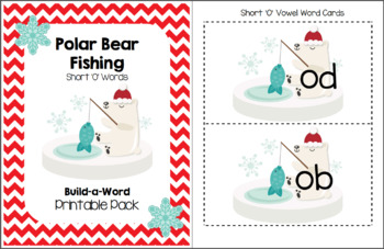 Polar Bear Fishing (Short O Words) Build-a-Word Printable Pack