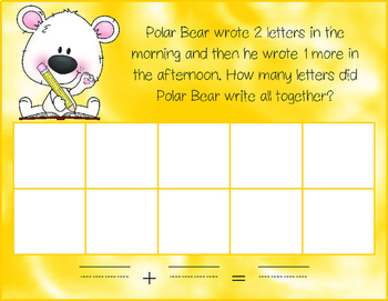 Polar Bear & Friends Add It Up! {ten frame addition with number stories}