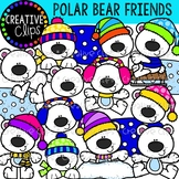 Polar Bear Friends: Winter Clipart {Creative Clips Clipart}