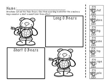 Polar Bear Fun { Long  o / Short o Activity Pack}