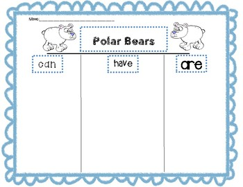 Polar Bear Graphic Organizer
