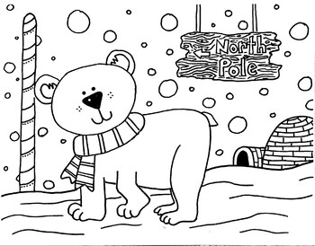 Free Printable Polar Bear Coloring Pages For Kids | 274x350