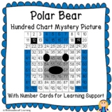 Polar Bear Hundred Chart Mystery Picture with Number Cards