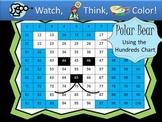 Polar Bear Hundreds Chart Fun - Watch, Think, Color Game!